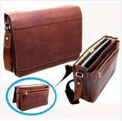 High quality men genuine leather briefcase