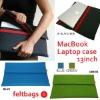 100% recycled felt laptop sleeve