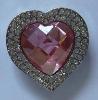 2011 Hot sale Diamond heart-shaped bag hook