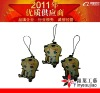 2011 NEW POP fashional rubber mobile charm for promo