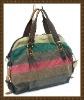 2011 fashion colorful  canvas handbag