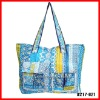 2011 floral ladies cotton tote promotional bag for women