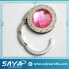 2011 foldable bag hanger with crystal stones