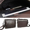 2011 newest nylon and genuine leather men bag for 12'' laptop--hot selling!!!