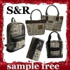 2011 paper and news pattern shopping bag, backpack,wallet