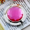 20112 fashion portable folding round crystal bag hook