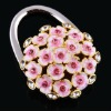 2012 fashion portable folding round crystal bag hanger