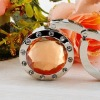 2012 fashion portable folding round crystal bag hook