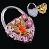 2012 fashion round jewelry folding bag hanger