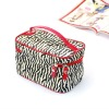 2012 new style leopard print cosmetic bag with handle/cosmetic bags with copartments