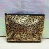 2012 new year ladies Fashionable Leopard Grain cosmetic bag