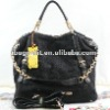 (2262*black120708)fashion with leather female bag value inventory bag