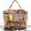 (2262*pink120709)fashion with leather handbag+shoulder+inclinedbag