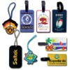 2D/3D Soft PVC /plastic luggage tag for bag accessories