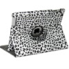 360 rotating leopard line Magnetic Smart PU Leather Stand Case Cover For iPad 2