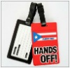 3D Personalized pvc luggage tag holder