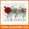 3D flower PC case for iphone4s