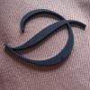 3D garment plastic brand name logo