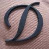 3D leather case plastic logo