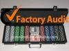 500pcs poker chip set in black ABS case