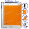 6000 mAh Portable for iPad 2 Battery Back Cover Case with Smart Cover(Orange)