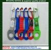 Aluminum carabiner hook strap with bottle holder