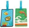 Animal promotional soft pvc luggage tag