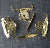 Antique brass metal luggage lock