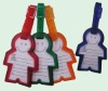 B25-0016 Person Shape Pvc Luggage Tag