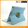 Baby Blue 360 Rotating Stand Swivel Hard Cover Leather Case with Stand for ipad 2,customers logo,OEM welcome