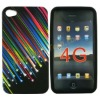 Beautiful Meteor Design Silicone Skin Case Cover for iPhone4