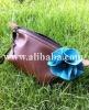 Big blue flower handmade cosmetic bag, wallets, purses