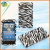 Black&white snap-on rubberized design case for HTC inspire 4G desire HD