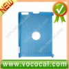 Blue Mesh Grid Design Hard Back Cover Case for iPad 2