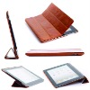 Book & Stand combination function leather case for iPad 2