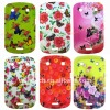 Butterflies Over Florets Silicone Protect Case Shell For Blackberry Bold 9900