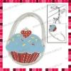 Cake Pattern Padlock Shaped Foldable Bag Hanger/Purse Hook