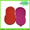 Candy color silicone key purse