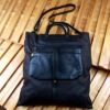 Cavas bags with one real leather small wallet
