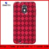Clear purple checker gel tpu skin case for Galaxy SII Epic touch 4G D710