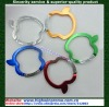Colorful Apple-shaped carabiner keychain