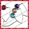 Colorful Crystal Unfoldable Purse Hook/Handbag Hanger