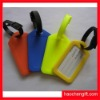Colorful plastic two side luggage tag