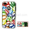 Colorized Figure Hard Case with Electroplating Sides for iPhone 4