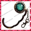 Crystal Foldable Handbag Hook/Purse Holder with Key Chain