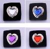 Crystal Folding foldable heart purse handbag Hooks