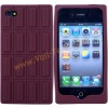 Delicious Chocolate Design Silicone Skin Case Cover for iPhone4