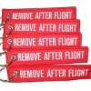Embroidered Remove After Flight key ring/keyring/keychain/key chain/key tag/keytag/key fob
