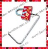 Enamel Handbag Shaped Unfoldable Purse Hook/Bag Hook