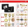 Fashion handbag metal case accessories ZJ6653